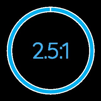 2.5:1