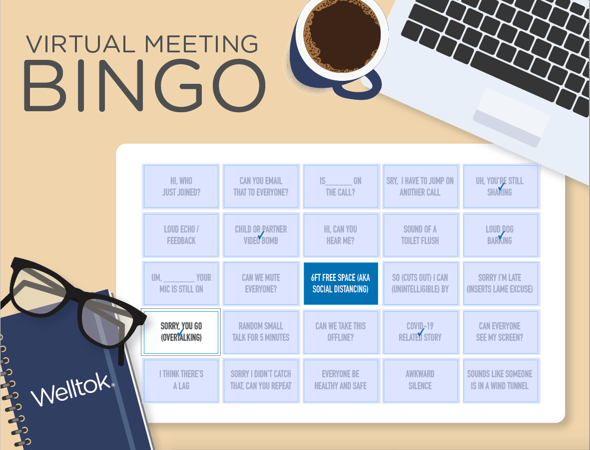 Welltok Virtual Meeting Bingo card thumbnail